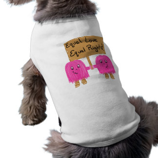 two pink equality doggie shirt