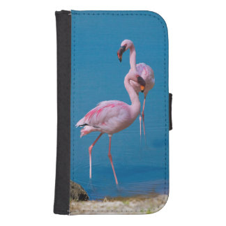 Two Pink Flamingos at the Lake Galaxy S4 Wallet