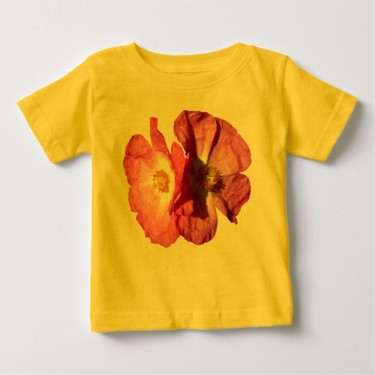 Two Pink Flowers Baby T-Shirt