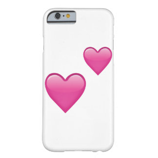 Two Pink Hearts - Emoji Barely There iPhone 6 Case
