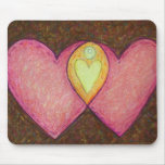 Two Pink Hearts Mousepad