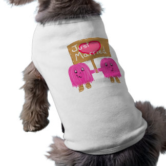 Two Pink Just Married Pet Clothes