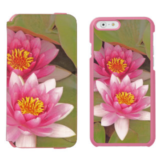"""""""TWO PINK LOTUS BLOSSOMS"""" INCIPIO WATSON™ iPhone 6 WALLET CASE"""
