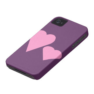 Two pink Love hearts iPhone 4 Case-Mate Case