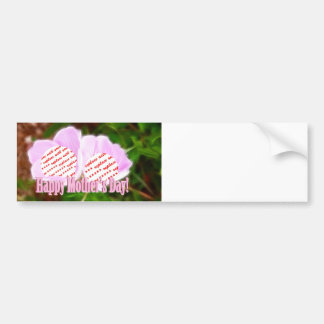 Two Pink Poppies for Mother's Day Photo Frame Car Bumper Sticker