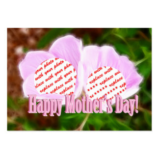 Two Pink Poppies for Mother's Day Photo Frame Large Business Cards (Pack Of 100)