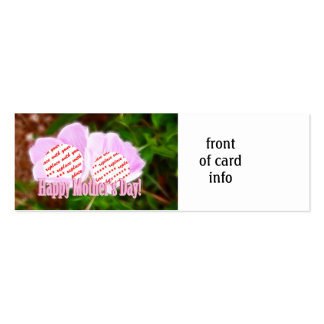 Two Pink Poppies for Mother's Day Photo Frame Double-Sided Mini Business Cards (Pack Of 20)