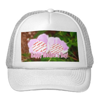 Two Pink Poppies for Mother's Day Photo Frame Trucker Hat