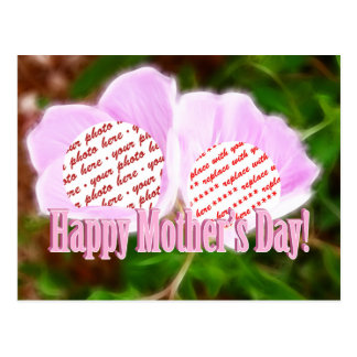Two Pink Poppies for Mother's Day Photo Frame Postcard
