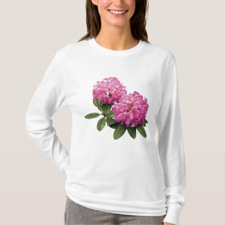Two Pink Rhododendrons Ladies T-Shirt