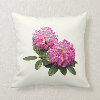 Two Pink Rhododendrons Throw Pillow