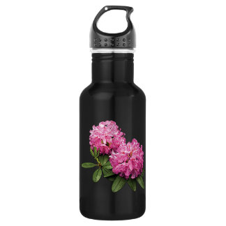 Two Pink Rhododendrons Water Bottle