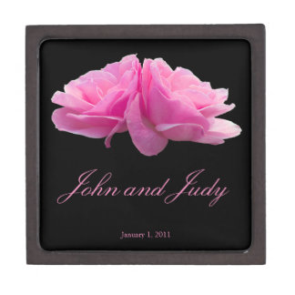 Two Pink Roses Personal Wedding Premium Gift Box