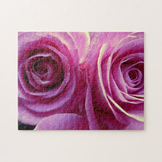Two pink roses jigsaw puzzles