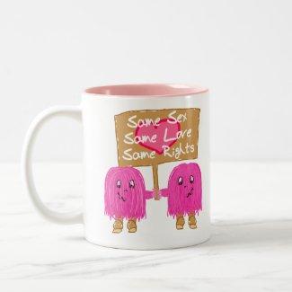 Two Pink Same Love mug