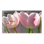 Two Pink Tulips Business Card Template