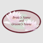 Two Pink Water Lilies Save the Date Sticker