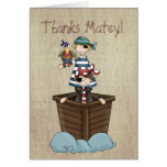 Two Pirates Stationery Note Card