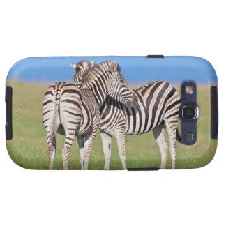 Two Plains zebra (Equus quagga) on coastal Samsung Galaxy S3 Cases