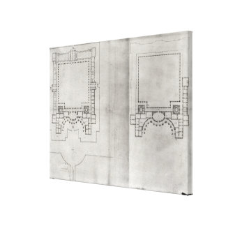 Two plans for the first project for the Louvre Canvas Print