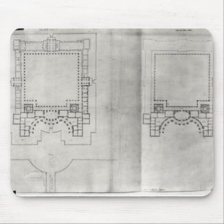 Two plans for the first project for the Louvre Mouse Pad