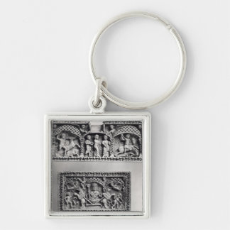 Two plaques from a chest keychain