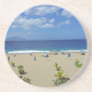 TWO PLAYA ALCIA BEACH SOSUA DOMINICAN REPUBLIC SUR SANDSTONE COASTER