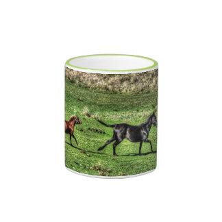 Two Playful Ranch Horses Photo Mug