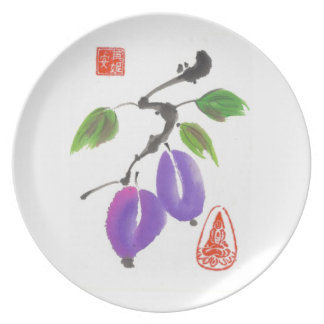 Two Plums Art Plate