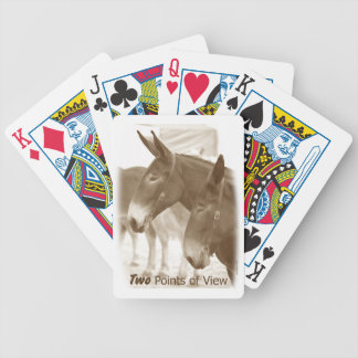 Two Points of View Bicycle Playing Cards