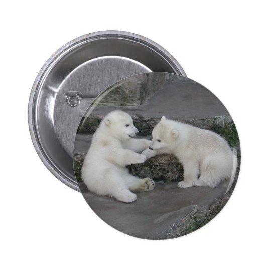 Two Polar Bear Cubs Button