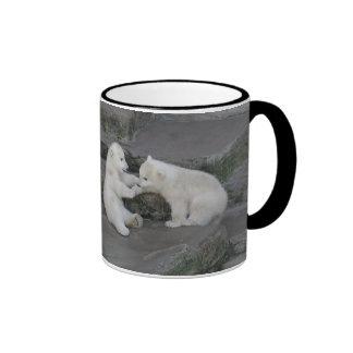 Two Polar bear cubs Ringer Mug