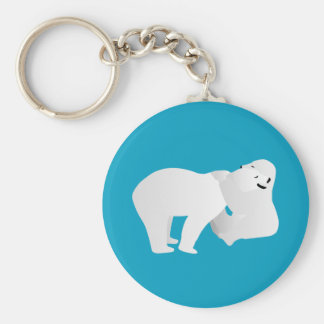 Two polar bears keychain