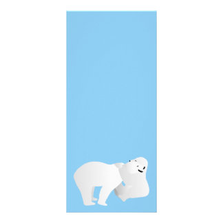 Two polar bears rack card