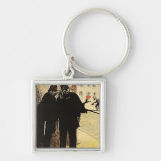 Two policemen hide from the Commissioner's wife Keychain