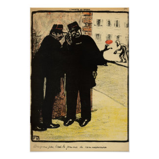 Two policemen hide from the Commissioner's wife Poster