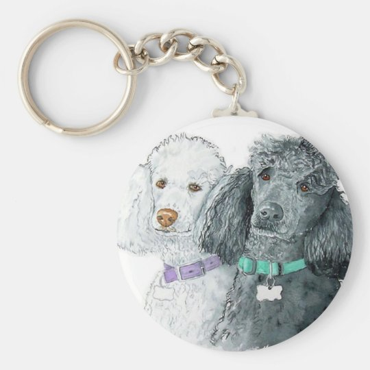 Two Poodles Keychain