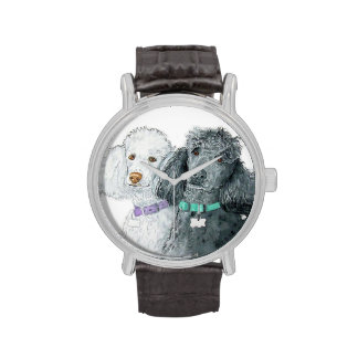 Two Poodles Wrist Watches
