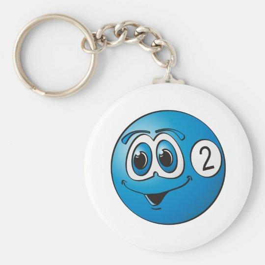 Two Pool Ball Cartoon Keychain