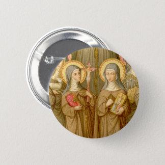 Two Poor Clare Saints (SAU 027) Circular Pinback Button