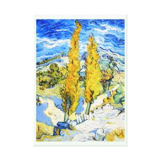 Two Poplars on a Hill Vincent van Gogh Canvas Print