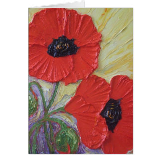 Two Poppies Card
