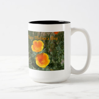 Two Poppies Mothers Day Two-Toned Mug