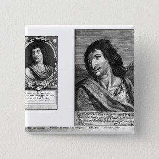 Two portraits of Savinien Cyrano de Bergerac Button