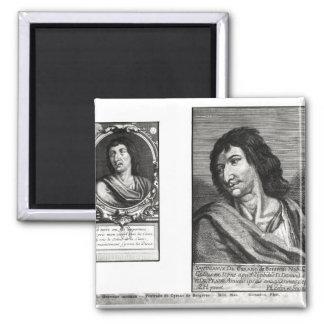 Two portraits of Savinien Cyrano de Bergerac Fridge Magnet