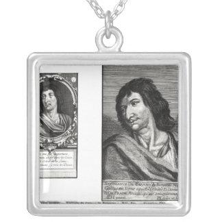 Two portraits of Savinien Cyrano de Bergerac Necklace