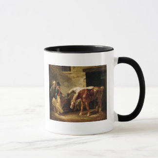 Two Post Horses at the Door of a Stable Mug