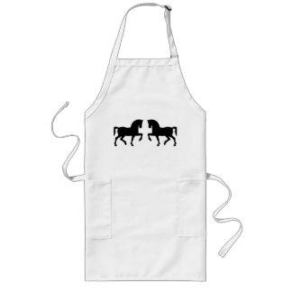 Two precious horses apron