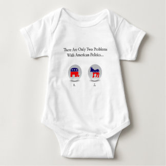 Two Problems with American Politics Baby Bodysuit