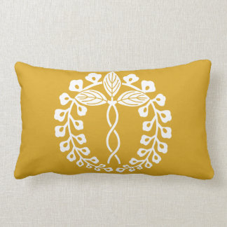 Two provision rattan lumbar pillow